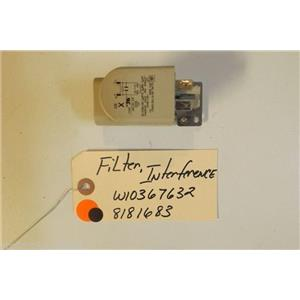 WHIRLPOOL Washer W10367632    8181683  Filter, Interference used part