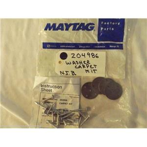 MAYTAG WASHER 204986 Kit-install Washer On Carpet      NEW IN BAG