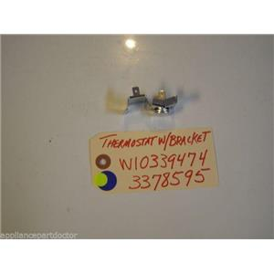WHIRLPOOL  DISHWASHER W10339474  3378595  ThermostatW/Bracket USED