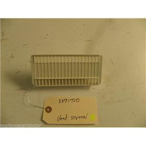WHIRLPOOL DISHWASHER 3371710 VENT SCREEN USED PART ASSEMBLY F/S