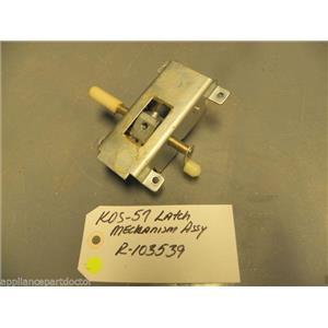 KITCHENAID WHIRLPOOL dishwasher KDS-57 Latch Mechanism R-103539 R103539 used