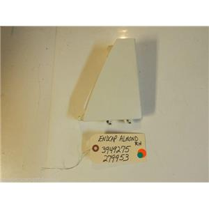 Whirlpool Kenmore  Dryer 3949275  279953  Endcap Almond  RH   small marks used