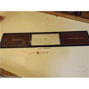 KENMORE STOVE 323438  Glass backguard  Marks, soiled   USED  PART