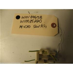 KENMORE WASHER W10189678 W10085220 MICRO SWITCH USED PART ASSEMLBY F/S