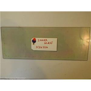 """AMANA STOVE 0316226 Glass, Dbl Coated  approx. 6"""" x 16 1/4""""  used part"""