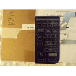 SAMSUNG MICROWAVE DE34-00049E Touch Pad Membrane  NEW IN BOX