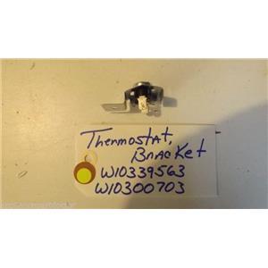WHIRLPOOL  DISHWASHER W10339563  W10300703  thermostat, bracket NEW W/O BOX