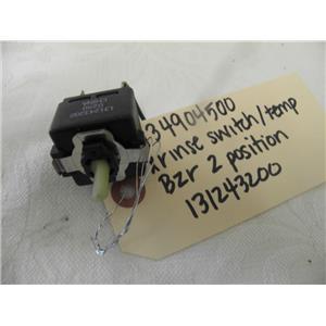 FRIGIDAIRE ELECTROLUX WASHER 134904500 XRINSE SWITCH/TEMP/BUZZER,2 POS 131243200