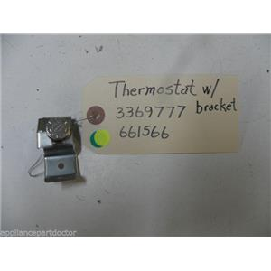 KENMORE DISHWASHER 3369777 661566 THERMOSTAT USED PART ASSEMBLY