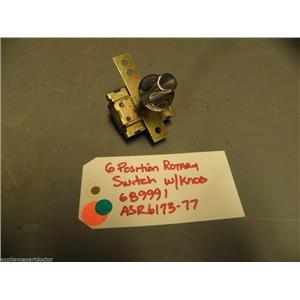 GE DRYER 689991 ASR6173-77 Vintage 6 Position rotary switch w/knob
