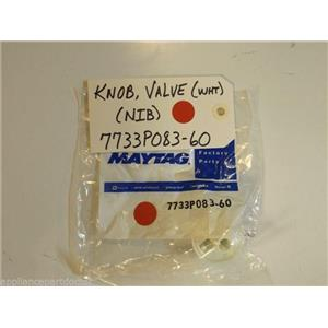 Maytag Gas Stove  7733P083-60  Knob, Valve (wht)  NEW IN BOX