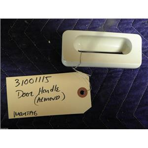 """MAYTAG ELECTRIC DRYER 31001115 DOOR HANDLE """"ALMOND"""" USED PART ASSEMBLY"""
