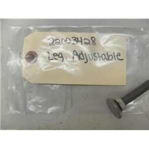 MAYTAG DRYER 22003428 Y302699 ADJ LEG W/NUT USED PART ASSEMBLY FREE SHIPPING