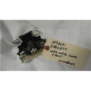 WHIRLPOOL DISHWASHER 337223/3380854 LATCH WHITE LEVER & BOLT LATCH