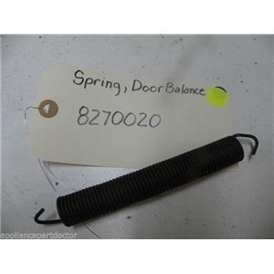 MAYTAG DISHWASHER 8270020 DOOR BALANCE SPRING USED PART ASSEMBLY