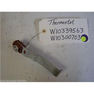 Kenmore DISHWASHER Thermostat  W10339563, Thermostat bracket  W10300703  used