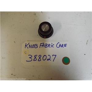 KENMORE GAS  DRYER 388027 Knob Fabric Care USED PART