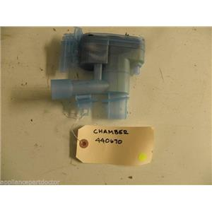BOSCH DISHWASHER 440670 CHAMBER USED PART ASSEMBLY F/S