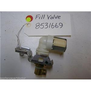 KENMORE DISHWASHER 8531669 FILL VALVE USED PART ASSEMBLY
