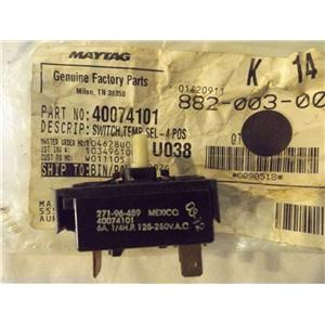 AMANA SPEED QUEEN WASHER 40074101 Switch,temp Sel-4 Pos  NEW IN BAG
