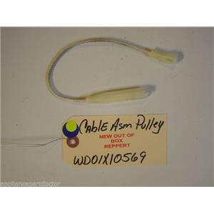 GE DISHWASHER WD01X10569 Cable Asm Pulley   NEW W/O BOX