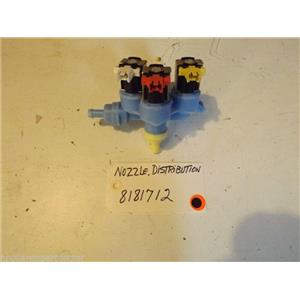 WHIRLPOOL WASHER 8181712  Nozzle, Distribution  used