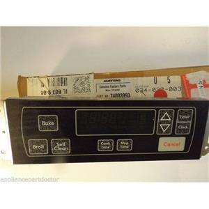Maytag Admiral Stove  74003993  Clock (blk)  NEW IN BOX