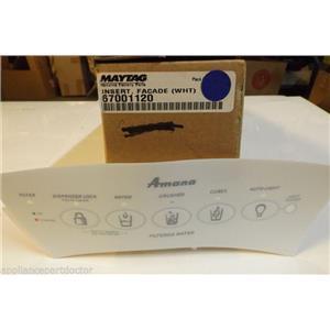 MAYTAG AMANA REFRIGERATOR 67001120 Insert, Facade (wht)   NEW IN BOX