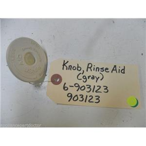 MAYTAG DISHWASHER 6-903123 903123 GRAY RINSE AID KNOB USED PART ASSEMBLY