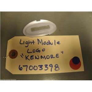 Kenmore Refrigerator 67003398 Logo, Light Module used