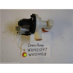 MAYTAG DISHWASHER W10421247 W10200518 DRAIN PUMP USED PART ASSEMBLY