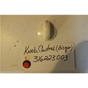 FRIDIGDARE  STOVE 316223003 Knob,control  USED PART