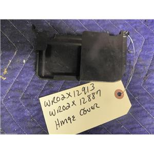 GE REFRIGERATOR WR02X12913 WR02X12887 HINGE COVER USED PART ASSEMBLY