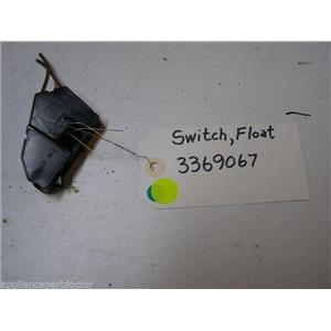 WHIRLPOOL DISHWASHER 3369067 FLOAT SWITCH USED PART ASSEMBLY