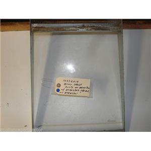 AMANA 10036019 D7862902 D7862901 MEAT KEEPER GLASS SHELF W/ SIDE RAIL *REAR RUST