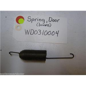 GE DISHWASHER WD03X10004 SPRING DOOR BR 13 LB USED PART ASSEMBLY