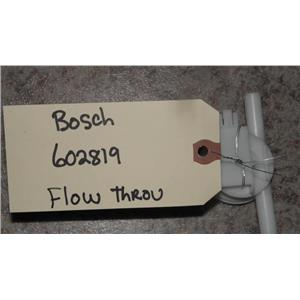 BOSCH FRONT LOADER AUTO WASHER FLOW THROU 602819 SWITCH ASSEMBLY FREE SHIPPING