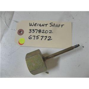 KENMORE DISHWASHER 3378202 675772  WEIGHT SHAFT USED PART ASSEMBLY