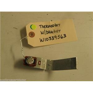 KENMORE DISHWASHER W10339563 THERMOSTAT W/ BRACKET USED PART ASSEMBLY