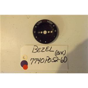 MAYTAG STOVE 7740P052-60 Bezel, Knob (blk)  used part