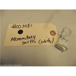 MAYTAG WASHER 22003981 MOMENTARY SWITCH WHITE USED PART ASSEMBLY