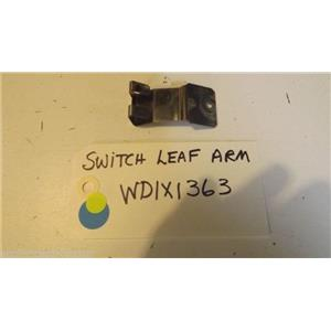 GE DISHWASHER WD1X1363  Switch Leaf used part