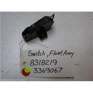WHIRLPOOL DISHWASHER 8318219 3369067 SWITCH HOUSING COVER W/ FLOAT SWITCH USED