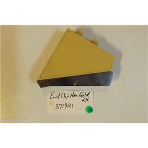 Whirlpool Dryer 371921 End cap harvest gold rh  used part