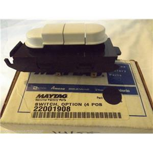 MAYTAG WASHER DRYER COMBO 22001908 Switch, Option (4 Pos.-wht)  NEW IN BOX
