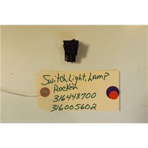 FRIGIDAIRE  STOVE 316448700   316005602   Switch-light/lamp, Rocker, Black  used