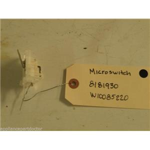 KENMORE WASHER 8181930 W10085220 MICROSWITCH USED PART ASSEMBLY F/S