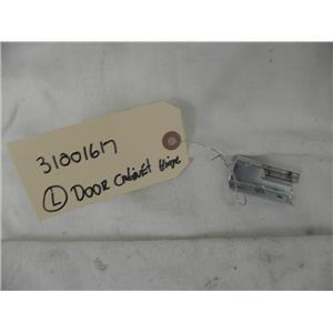 "MAYTAG ELECTRIC DRYER 31001617 ""LEFT"" LEAF CABINET HINGE USED PART"