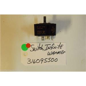 FRIGIDAIRE Stove  316095500 Switch,infinite ,drawer/zone ,warmer  USED PART