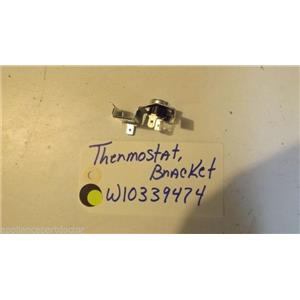 WHIRLPOOL DISHWASHER W10339474  3378595  Thermostat and bracket  used part
